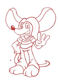 Sketch: Red the Mouse by Trowelhands