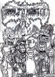Ghouls N' Ghosts 30th Anniversary (Lineart) by AuronTsubaki1985