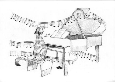 Antonia Ortlieb playing the piano by Smolton