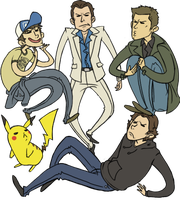 L4D2, SPN, PkMn: All the Bros by sparkyHERO