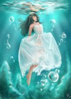 Girl Underwater by emia1905