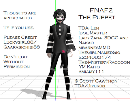 MMD- FNAF ThE PuPpEt by luckygirl88