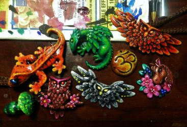 Christmas Pendants by PoisonJARCreations