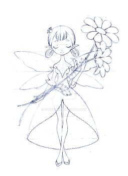 flower pixies coloring pages - photo#5