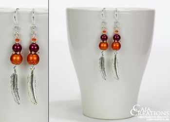 Pumpkin Patch earrings (OOAK) by petrova