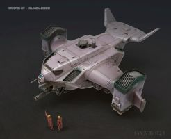 Gunship by handfighter