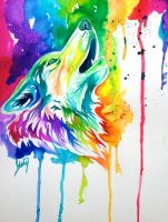 Colorful Wolf by Lucky978