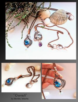 Ownah- wire wrapped copper necklace by mea00