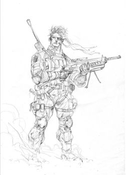 Metal Gear Solid - Drink'nDraw June 27th 2012 by SpiderGuile