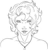 Sam Portrait Lineart by WargmoDesign