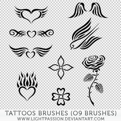 Tattoos Brushes by LightPassion