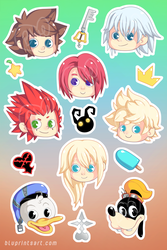 Kingdom Hearts Sticker Sheet by BluevanDeurs