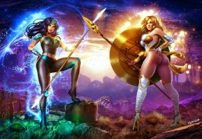 Oceania and Thera By Isikol by LordAmon12
