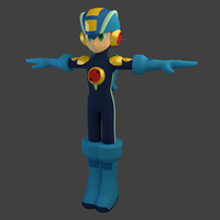 Mega Man.EXE Textured by PixelSpriteArt