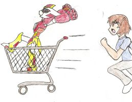 Rqst 1: Shopping Cart Raci-Riding by NeonNeoz