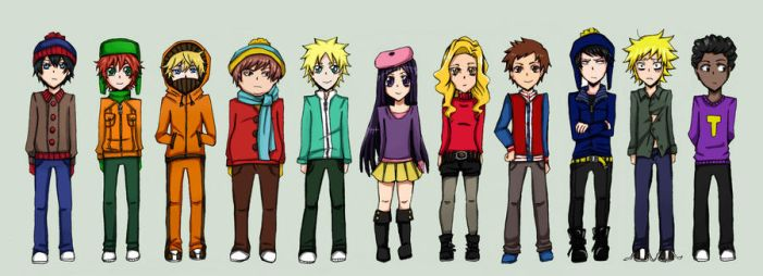 South Park characters by nyuhatter