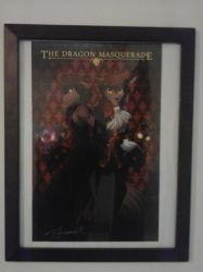 Dragon Masquerade Poster by Wolfsalvo