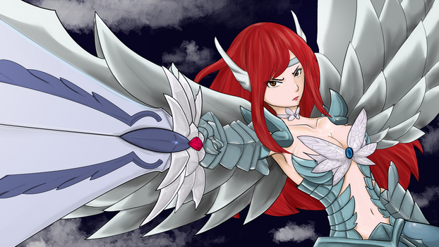 Erza Scarlet COMMISSION by Xarra-Lotus