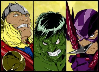 Avengers Part 2 Inks By Neelthe101 Colours by Highlander0423