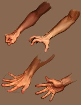 Hand studies by nraza