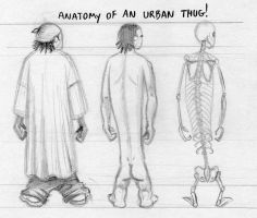 Anatomy of an Urban Thug by pat-mcmichael