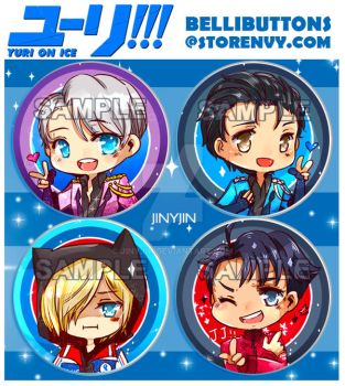 Yuri on Ice button set by jinyjin