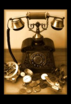 The Professor's New Telephone by Forestina-Fotos
