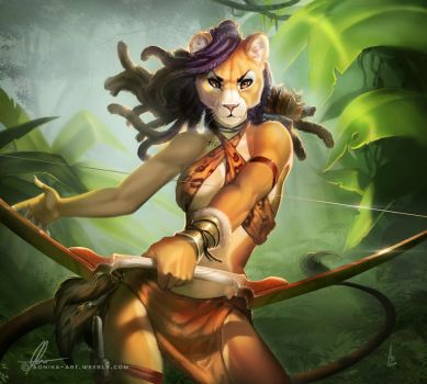 Amazon huntress by AonikaArt