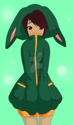 Me in bunny costume~ :3 by CookiePuux3