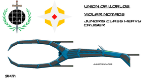 Violar Jundris Class Heavy Cruiser by EmperorMyric