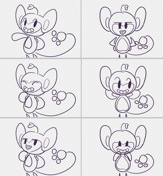 A.I.pom talksprite sketches by obviousOddball
