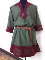 Celtic Tunic green and red by RobynGoodfellow