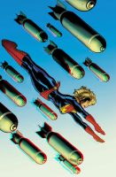 Captain Marvel 3D Anaglyph 2 by xmancyclops