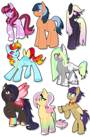 .:MLP Adoptables - 11:. CLOSED by Brishii