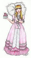Marie Antoinette with Cupcake by SarahsPlushNStuff