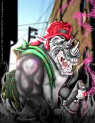 Rhino_2007_First Finished Digital Painting by Legend0187