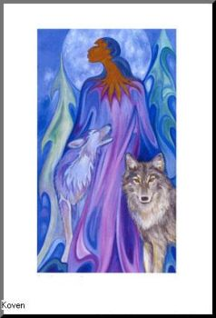Woman and Wolves by KovenStormweaver