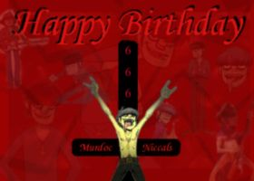 happy b-day Murdoc by MurdocsLuver