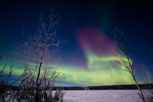 Another Bear Paw Lake Aurora 1-7-15 by Line-of-Birds