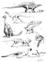 dino sketches by Apsaravis