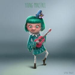 Young Minstrel by clementmeriguet