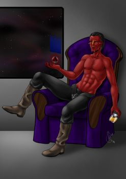 Commission- Relaxing sith by LunaJMS