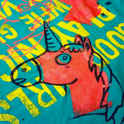 Unicorn Screen Print by Lydia-distracted