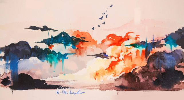 water color by AnuPatten