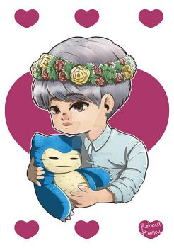 Jimin - X-mas - COMMISSION + Speed Paiting by Rebeca-Honney
