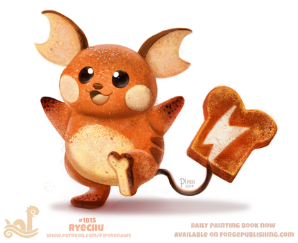 Daily Paint 1815# Ryechu by Cryptid-Creations