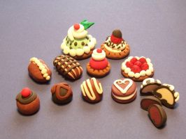more sculpey desserts by Gimmeswords