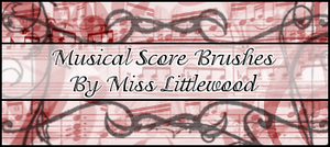 Musical Score Brushes by MissLittlewood
