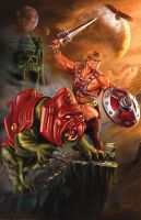 He-Man and Battle Cat print by Eamonodonoghue