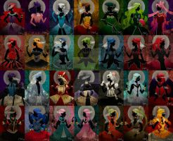 .crystal villain princess and queens collection by mimiclothing